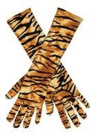 Lange handschoenen tijger print