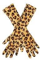 Lange handschoenen cheetah print