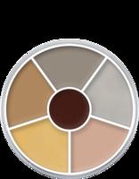 Kryolan cream color circle 6 kleuren: lijk / corpse 2