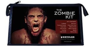 Kryolan Zombie kit 13 delig incl uitgebreide omschrijving