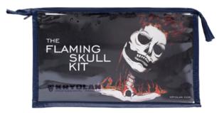 Kryolan Flaming skull kit 8 delig