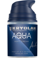 Kryolan schmink aquacolor soft cream donkerbruin 101 50 ml pompflesje