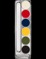 Kryolan latex RMG schminkpalet 6 kleuren extra vet