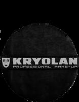 Kryolan powder puff 8 cm zwart