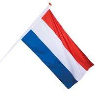 Nederland decoratie vlag rood/wit/blauw 90 x 150 cm