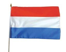 Zwaaivlag Nederland stof 30 x 40 cm