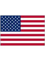Zwaaivlag USA stof ca. 30 cm x 40 cm op stokje 60 cm
