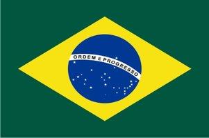 Decoratievlag Brazilië 90 x 150 cm