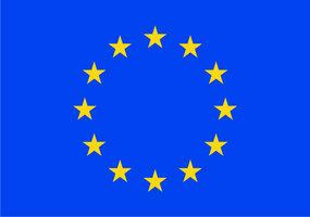 Decoratievlag Europa  90 x 150 cm