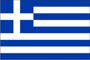 Decoratievlag Griekenland 90 x 150 cm