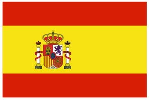 Decoratievlag Spanje 90 x 150 cm
