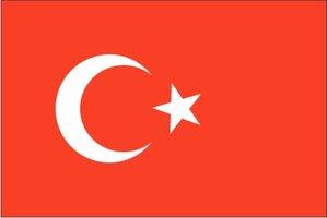 Decoratievlag Turkije 90 x 150 cm
