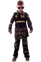 Commando camouflage 3 delig: broek, shirt, vest met opdruk