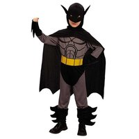 Vleermuisheld 3 delig: jumpsuit, cape en hoofdkap