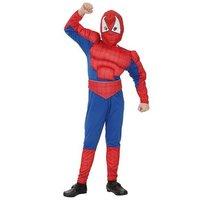 Spinnenheld gespierd 2 delig: jumpsuit en hoofdkap