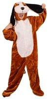 Hond pluche kostuum met muts