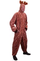 Giraffe pluche kostuum met capuchon