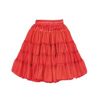 Luxe petticoat 2 laags rood