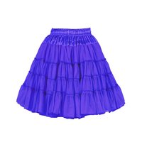 Luxe petticoat 2 laags donkerblauw