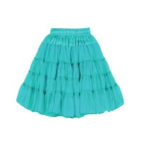 Luxe petticoat 2 laags turquoise