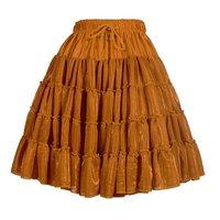 Luxe petticoat 2 laags metallic koper