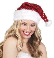 Kerstmuts rood glitter