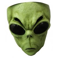 Gezichtsmasker rubber Green Alien