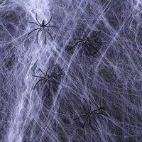 Giant spinnenweb met 12 spinnen, Wit, 1000 gr Brandvertragend