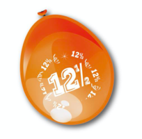 Ballonnen metallic brons 12,5 jaar 8 stuks