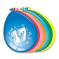 Ballonnen 17 jaar 8 stuks