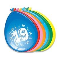 Ballonnen 19 jaar 8 stuks