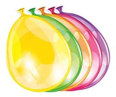 Ballonnen rond 10 stuks neon kleuren   30 cm
