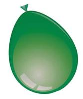 Ballonnen rond 10 stuks groen  30 cm