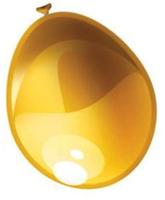 Ballonnen 10 stuks metallic goud   30 cm