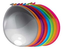 Ballonnen metallic & pearl assorti 10 stuks   30 cm