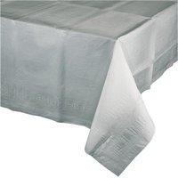 Tafelkleed shimmering silver papier