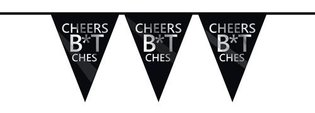 Vlaggenlijn 'Cheers b*tches' (6m)