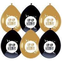 Ballonnen Festive Gold 'Hip Hip Hooray' 6 stuks