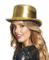 Hoge hoed shine goud lurex