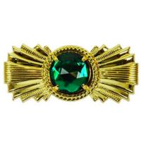 Piet Baretspeld goud met groene steen