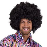 Super Afro, krulpruik zwart