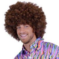 Super Afro, krulpruik bruin
