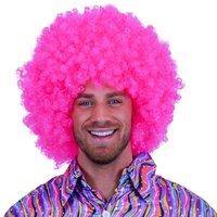 Super Afro, krulpruik roze