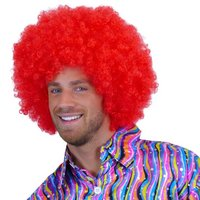 Super Afro, krulpruik rood