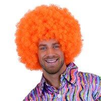 Super Afro, krulpruik oranje
