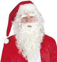 Kerstman pruik, baard en wenkbrauwen