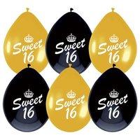 Sweet 16 ballonnen 6 stuks