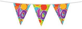 Vlaggenlijn '10 jaar' 10 meter