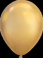 Chrome ballonnen goud 27,5 cm