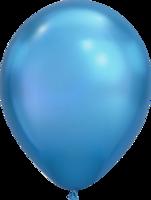 Chrome ballonnen blauw 27,5 cm